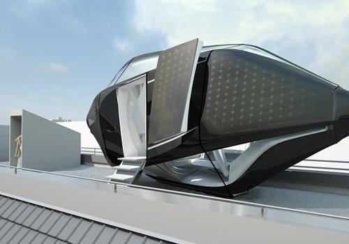 แบบบ้าน แคปซูล ขนาดกะทัดรัด สามารถผลิตไฟฟ้าด้วยตัวเอง